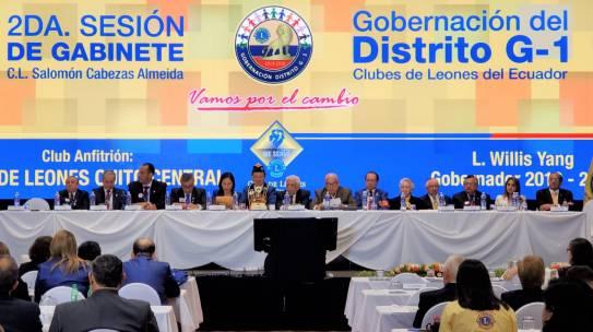 Segunda Sesión de Gabinete del distrito G1